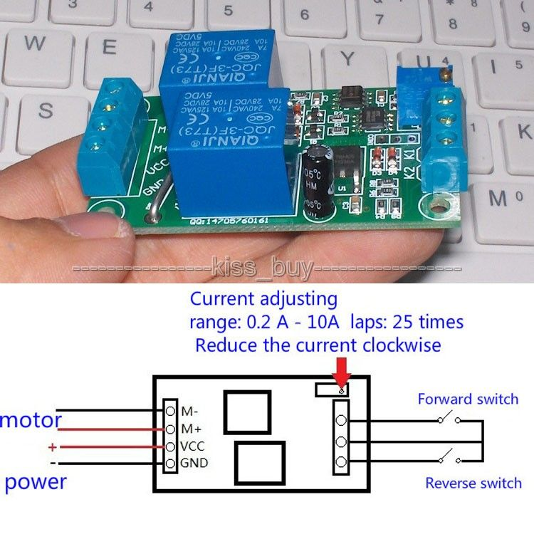 24v Dc Motor Forward Reverse Controller With Overload Overcurrent Protection