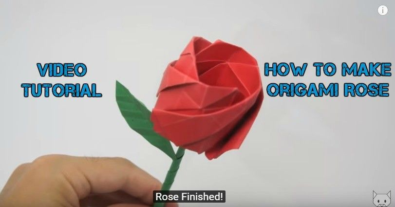 How to DIY Beautiful Origami Rose | 425x811