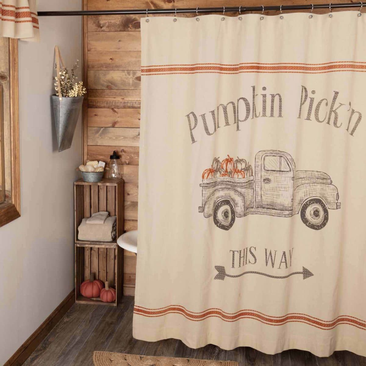 Harvest Market Truck Shower Curtain Fall Decor 2019 In 2019