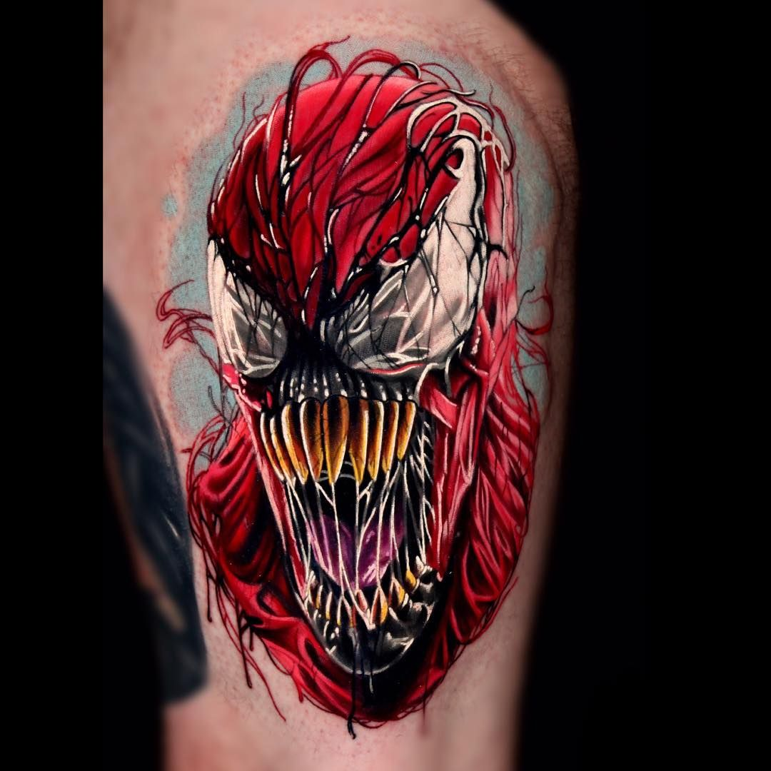 carnage tattoo by jeremy brown pinterest tattoo tatting and cubs tattoo. Black Bedroom Furniture Sets. Home Design Ideas