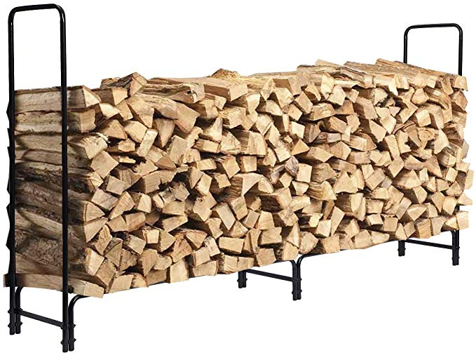 kingso 8ft firewood rack outdoor heavy