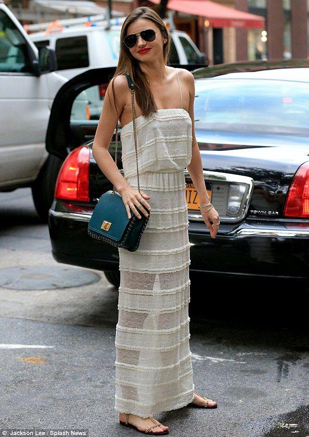 5e7a7a7c4e9 Miranda Kerr leaves little to the imagination in transparent dress ...