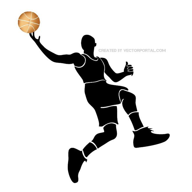 basketball player silhouette free vector free vectors pinterest rh pinterest ca basketball player vector silhouette basketball player vector