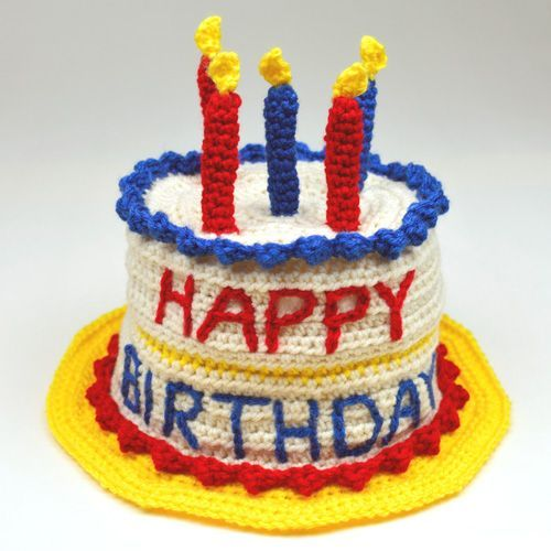 Crochet Pattern Birthday Cake Hat 5 Sizes By Rachel Choi Be The First To Comment This Goofy For Boy Or Girl