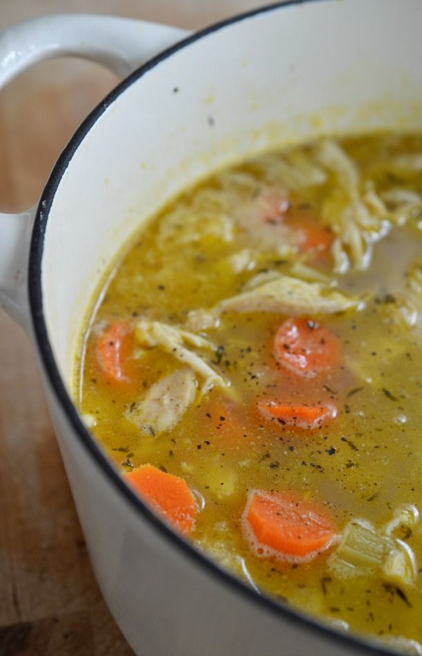 Easy Chicken Soup Recipe With Lemon And Pepper Chicken Soup Recipes Easy Easy Chicken Soup Chicken Soup Recipes