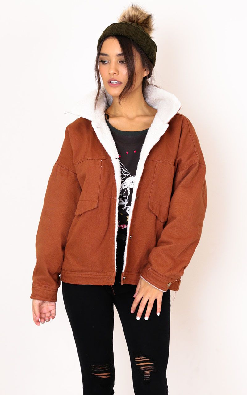 7190b6b4a Stranger Shearling Jacket In Tan Produced | Outfit motivation ...