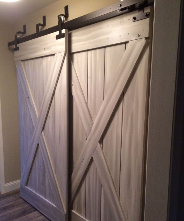 Replace The Ugly Closet Doors With Sliding Barn Doors Versatility