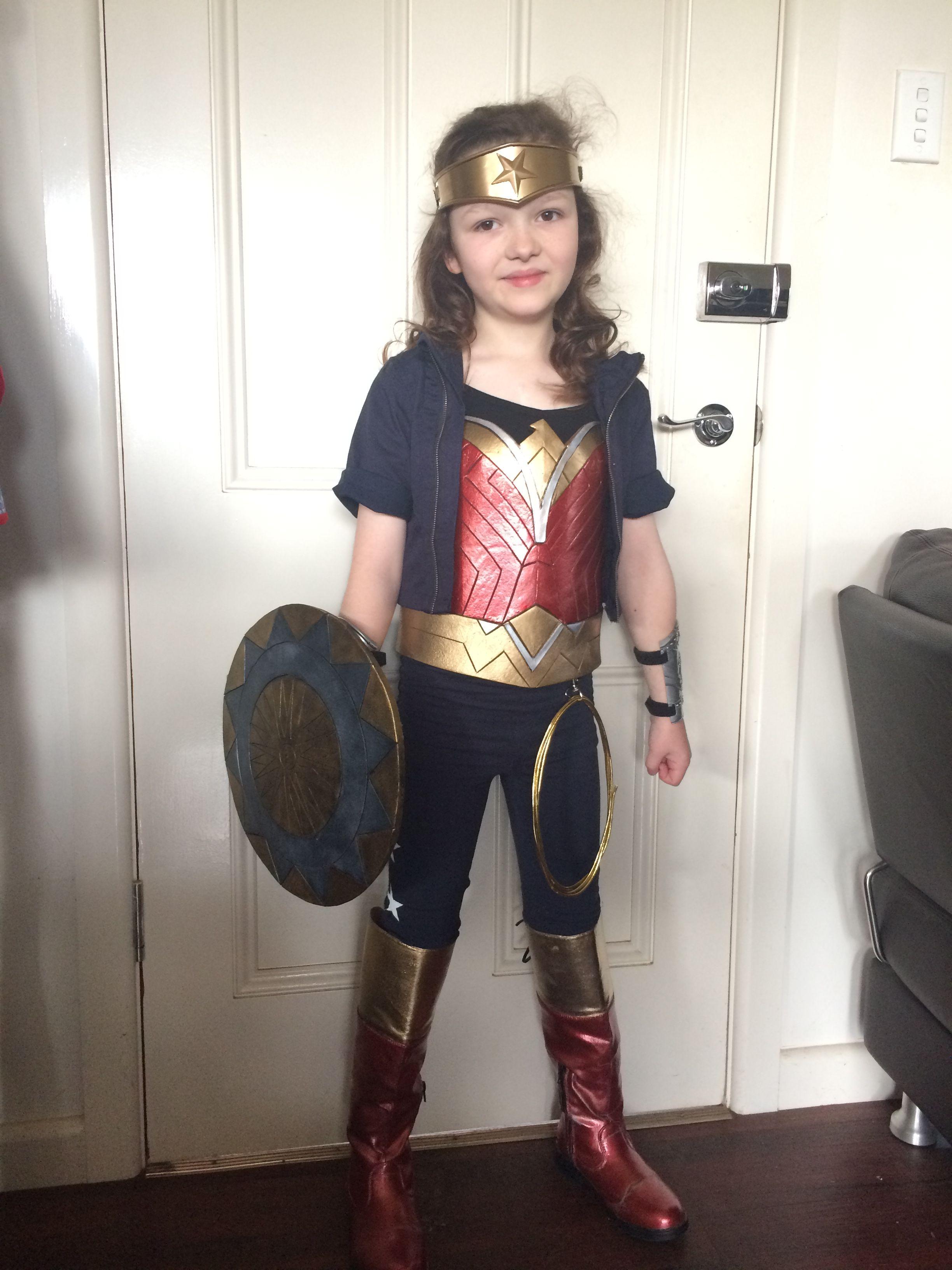 Wonder Woman Halloween Costume Kids.Wonder Woman Kids Costume For Book Week Halloween Birthday Diy