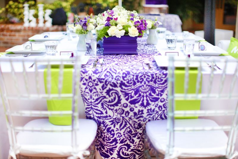 Modern Baroque Purple Green Wedding Inspiration