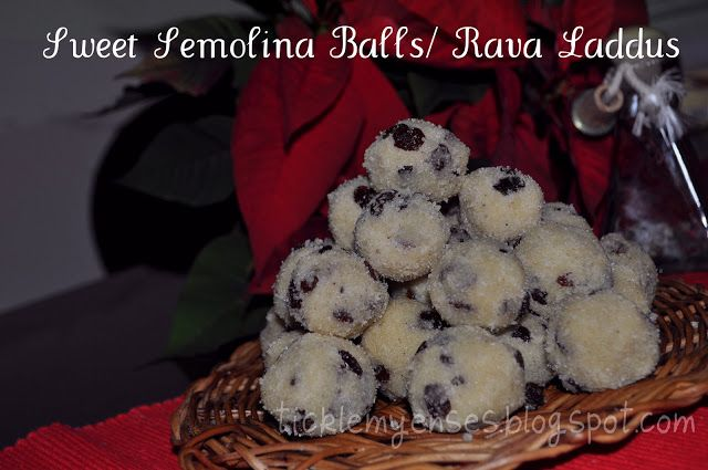Sweet Semolina Balls With Almonds Raisins And Condensed Milk Rava Laddus Sweet Christmas Sweets Raisin