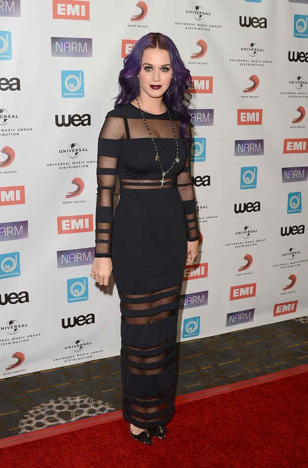Who didn't love her goth-inspired phase?   32 Pictures Of Katy Perry's Style Evolution