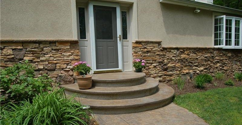 how to build front porch cement steps