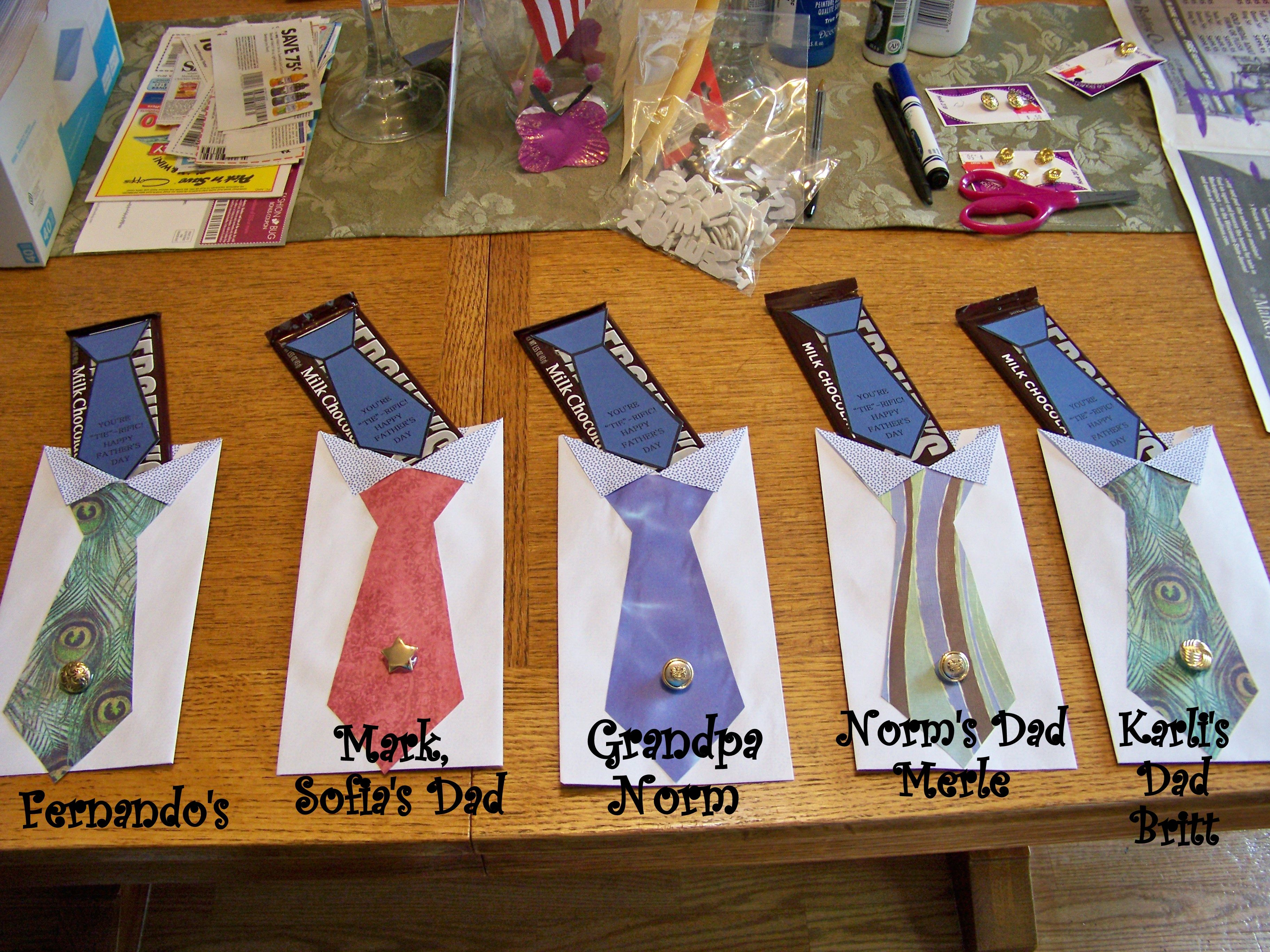 Shirt design envelope - My Own Version Of The Father S Day Envelope Shirt N Tie W A Hershey Bar
