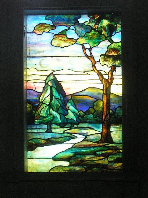 Stained Glass window at Rock Creek Cemetery by parkview dc, via Flickr