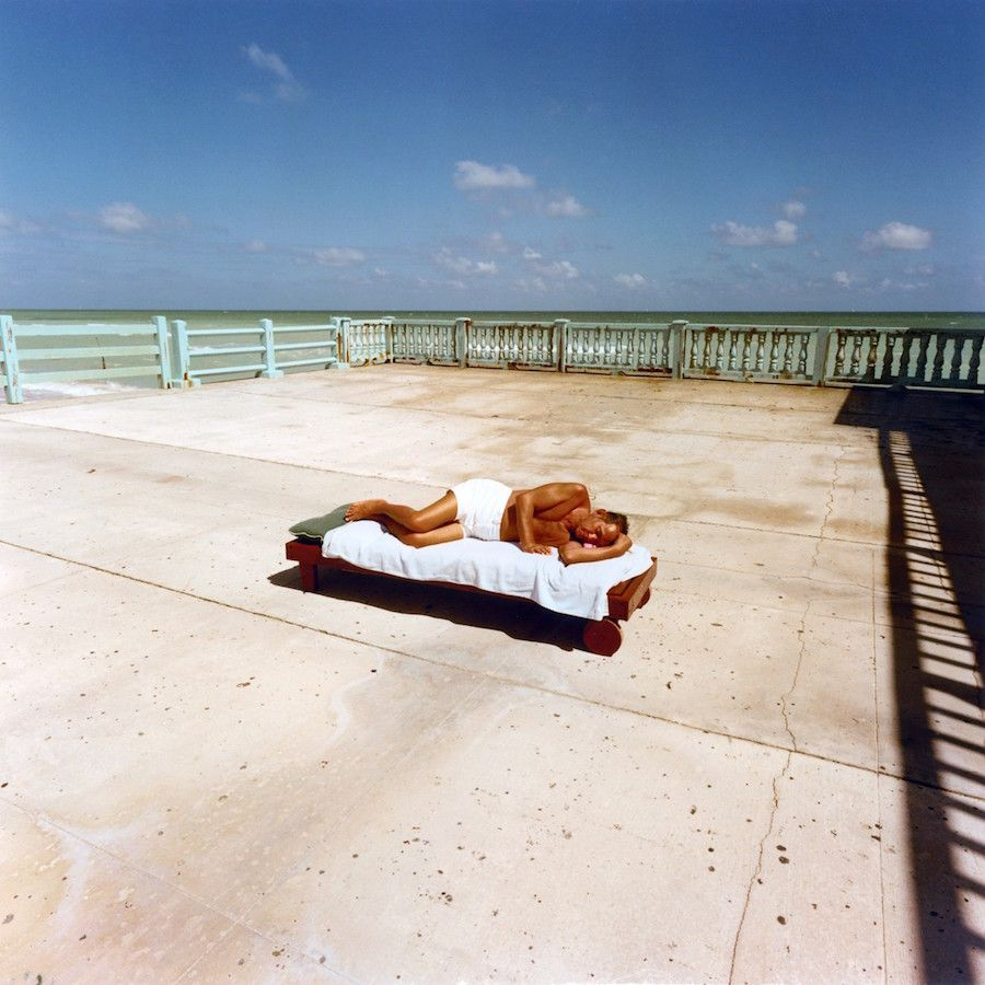 Color Photographs Show Iconic Beach Culture Of Miami In The Late