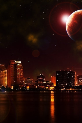 Downtown san diego at night iphone wallpaper hd you can - 3g wallpaper hd ...