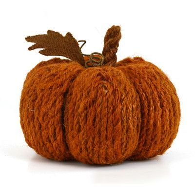 SheasWildflowers Wool Rope Pumpkin Sculpture