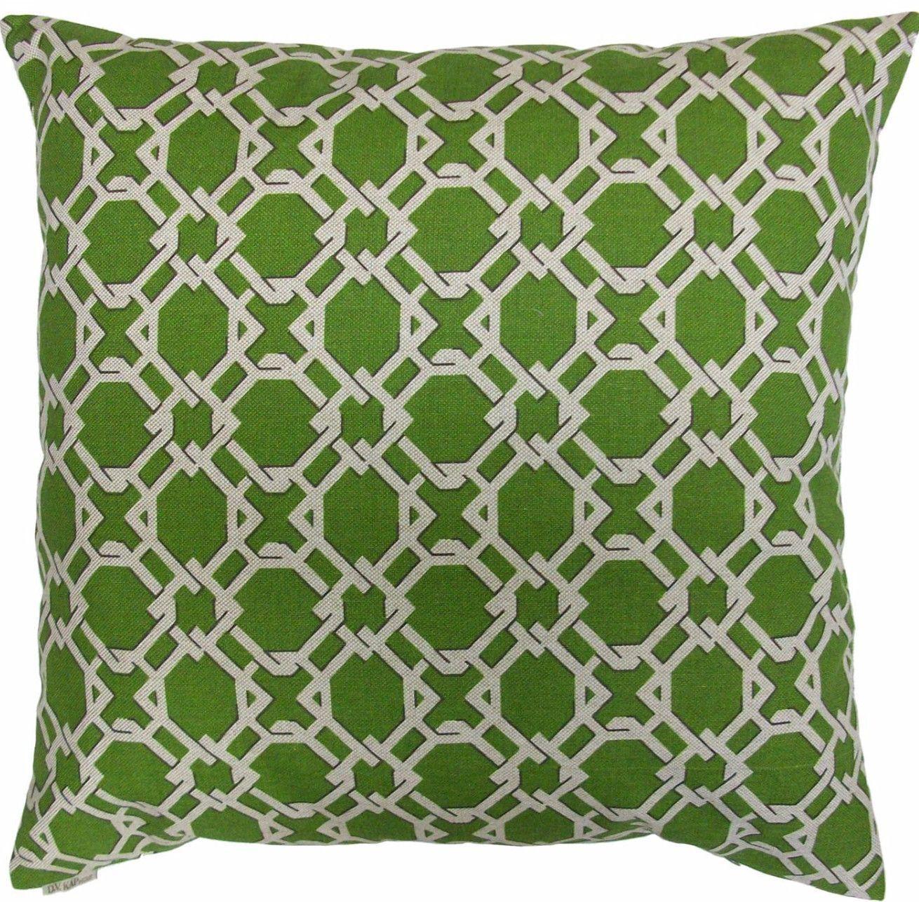 Keenland-Green Throw Pillow