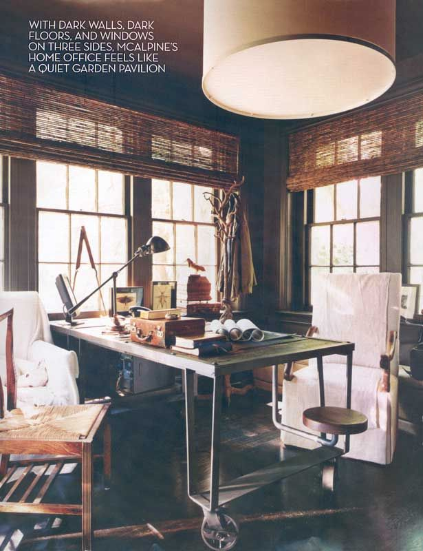 Matchstick Blinds Traditional Office Home Office Desk Layout