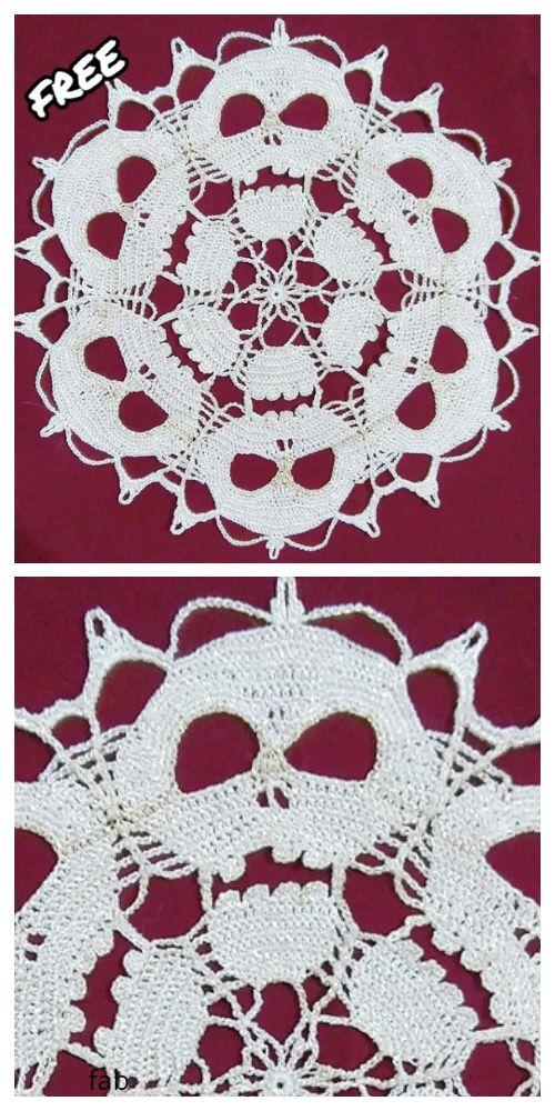 Crochet Skull Doily Free Crochet Patterns