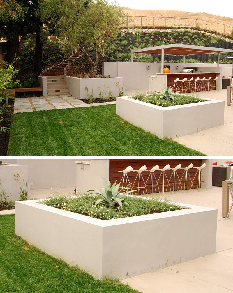 10 inspirational ideas for including custom concrete planters in your yard      the large square