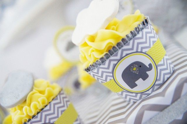 Baby Shower Elefante Amarillo ~ Baby shower amarillo y gris eventos para niños catering para