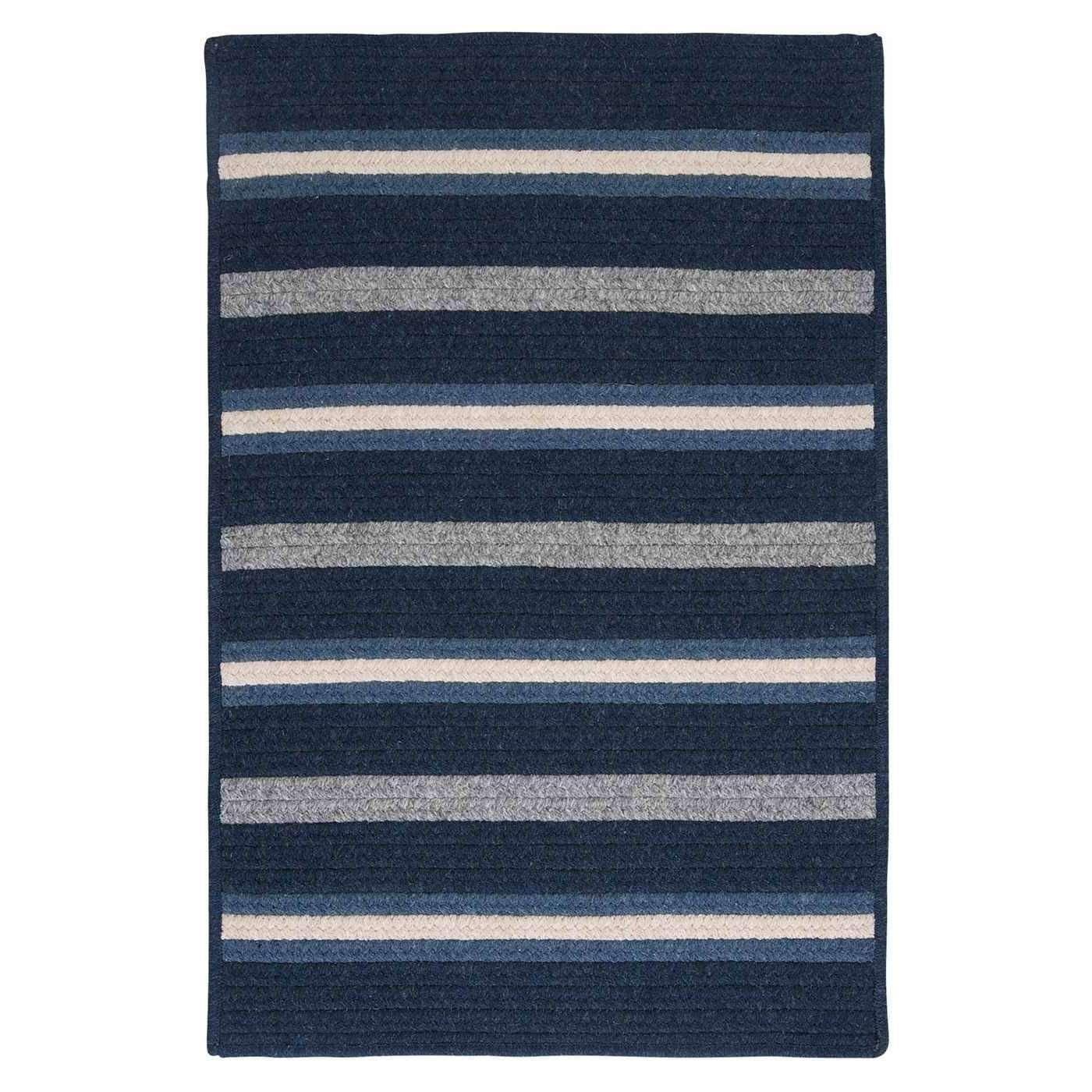 Salisbury LY29 Navy Braided Wool Rug