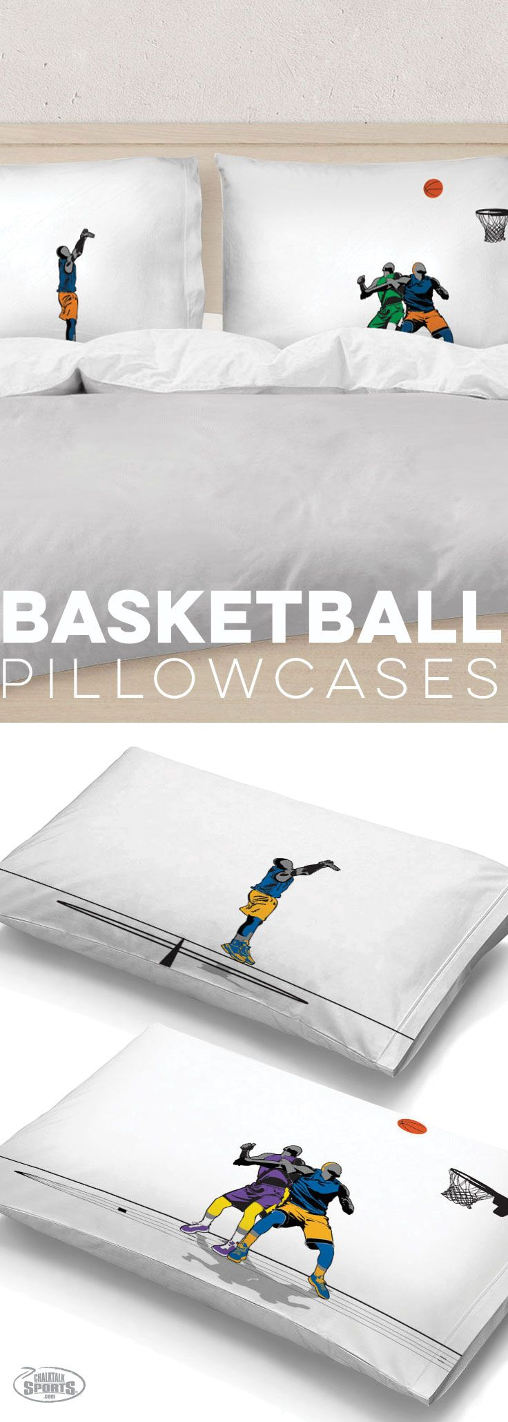These basketball pillow cases are sure to score come point to whoever is given them. Super soft and comfortable, there is a scene of a game in progress. You wont regret getting these.