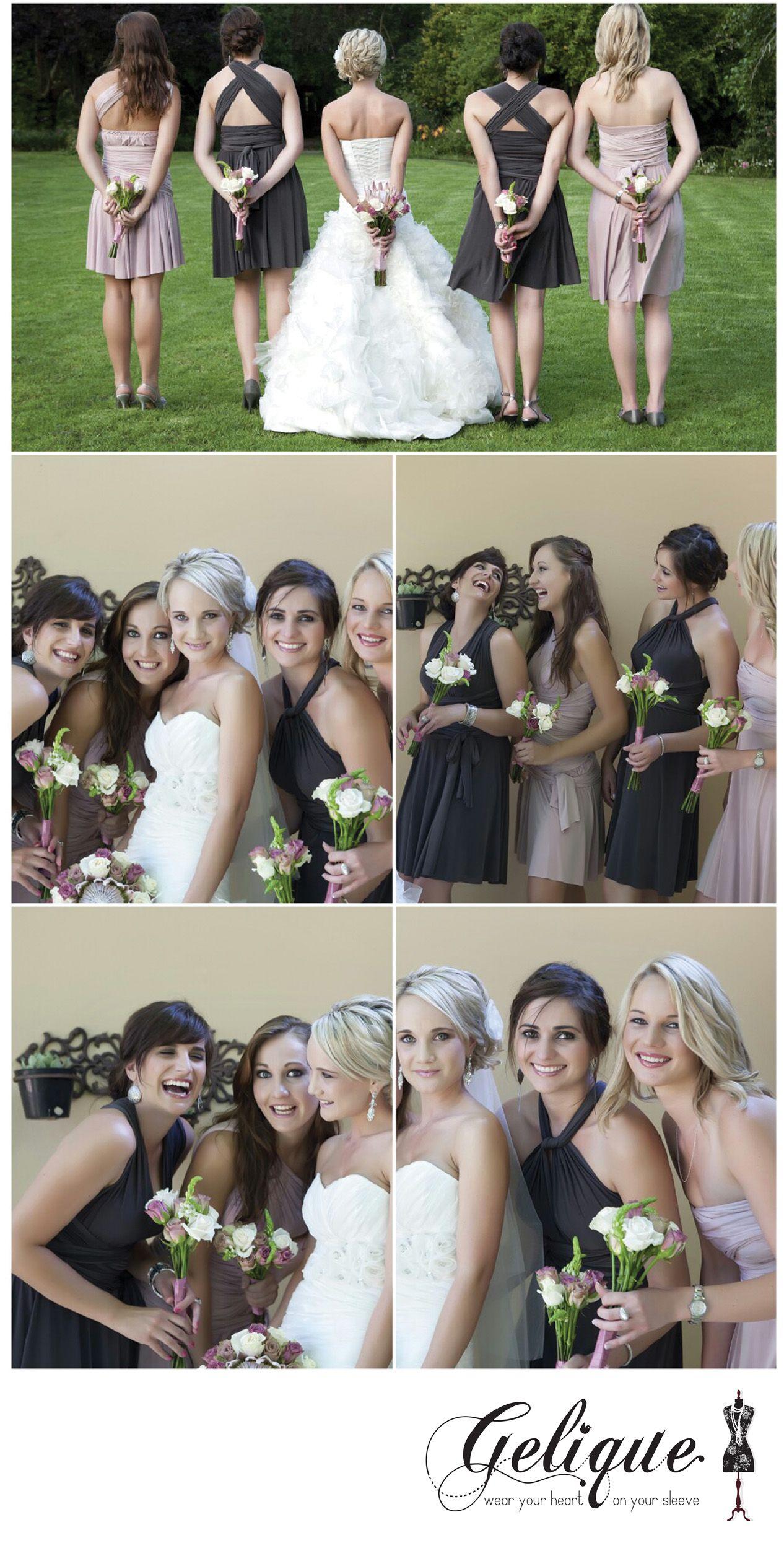 Bridesmaids dresses by Gelique