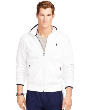 Polo Ralph Lauren Full-Zip Interlock Track Jacket - Pure White M ...