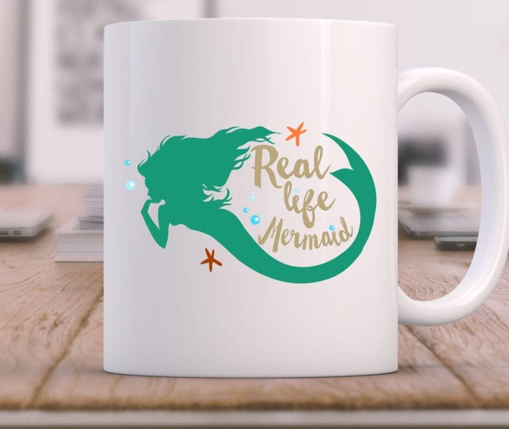 Mermaid mugs beer travel milk cup porcelain coffee mug tea cups home ...