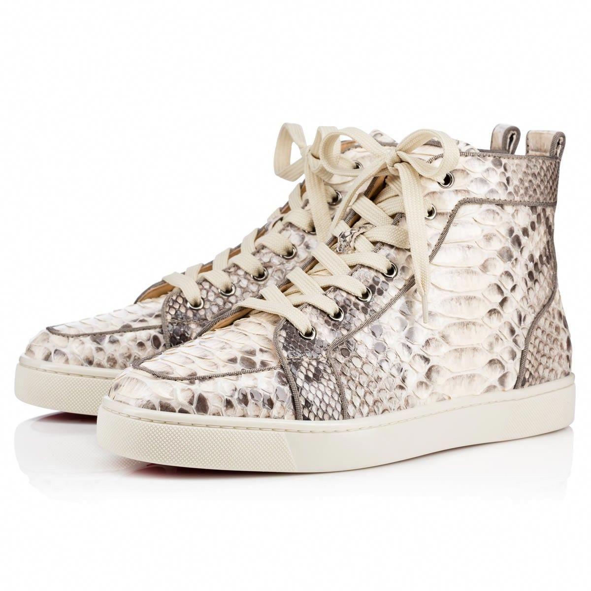 0238d94f0f0d CHRISTIAN LOUBOUTIN Rantus Orlato Crystal Roccia Black White Python - Men  Shoes - Christian Louboutin.  christianlouboutin  shoes