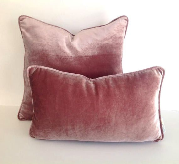 Dusty Rose Velvet Pillow Cover Pink Cushion