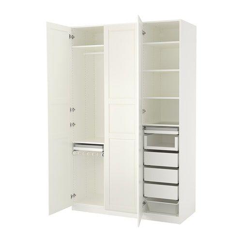 PAX Wardrobe white, Tyssedal white 59x23 5/8x93 1/8