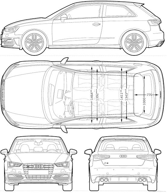 Download Most Loved HD Car Blueprints for 3D Modeling For