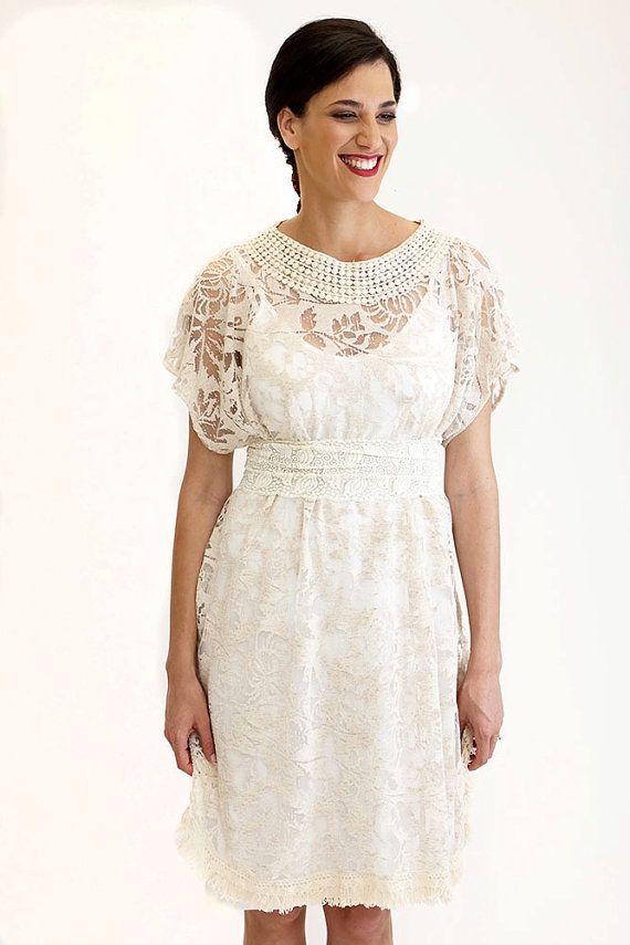 Boho Wedding Dress, Women Lace Dress, Short Wedding Dress, Bohemian ...