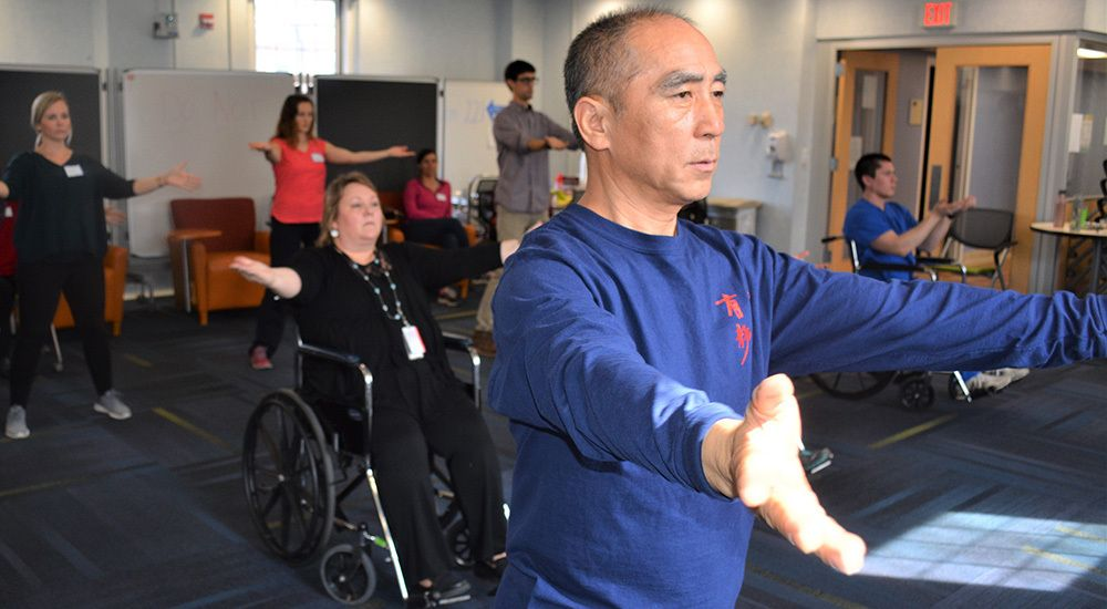 The Salem VAMC is one of 36 centers that offer wheelchair tai chi. Here's how:  In 2016, Zibin Guo began teaching Tai Chi to Veterans. He began teaching an adaptive program of the martial art to those in wheelchairs. The VAMC plans to offer this ...