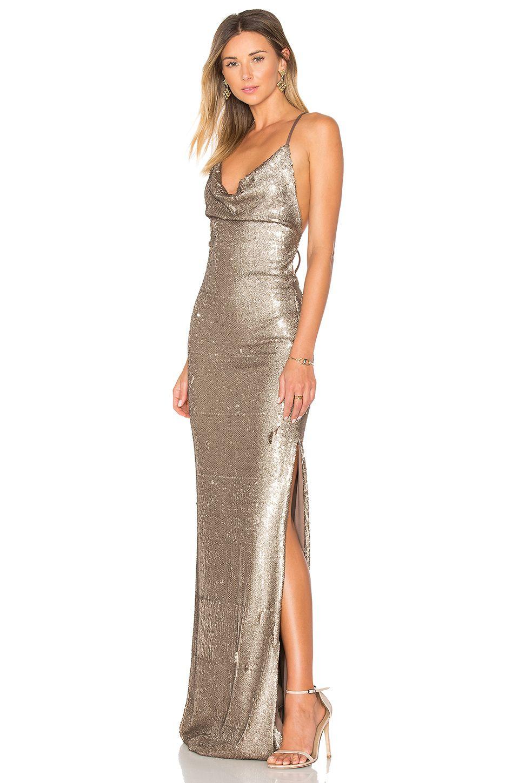 Gemeli Power Fishscale Dupey Gown In Bronze Revolve Vestidos Looks Vestido De Festa Shop these senior prom dresses and junior prom dresses to find your dream dress! gemeli power fishscale dupey gown in