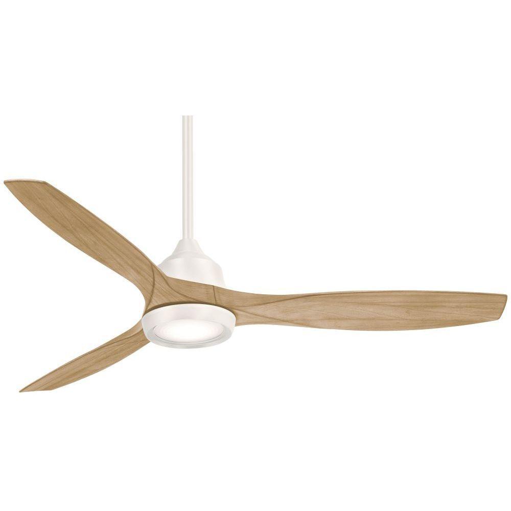 Minka Aire Skyhawk 60 Inch 3 Blade Led Ceiling Fan In Flat White F749l Whf Ceiling Fan Ceiling Fan With Light Fan Light