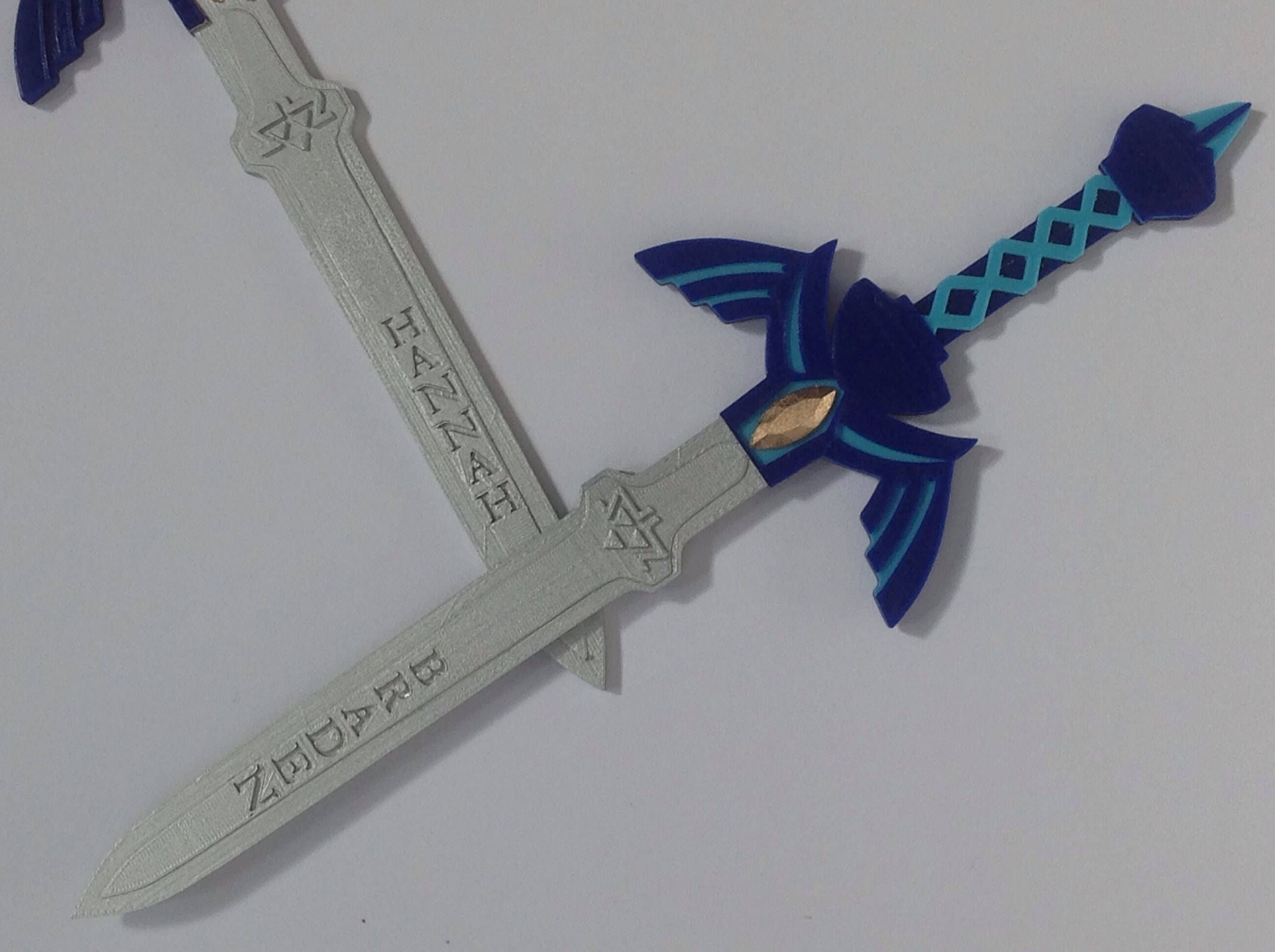 Custom Legend Of Zelda Master Sword Triforce Cake Topper