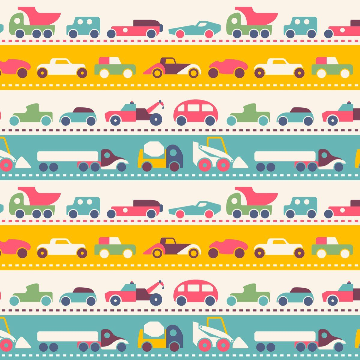 Car Truck Pattern Wrapping Paper Sheets Semi Truck Gift Wrap