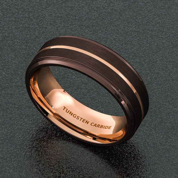 e28126a766826 Mens Wedding Band 8mm Espresso Collection Brown by Sydneykimi | the ...