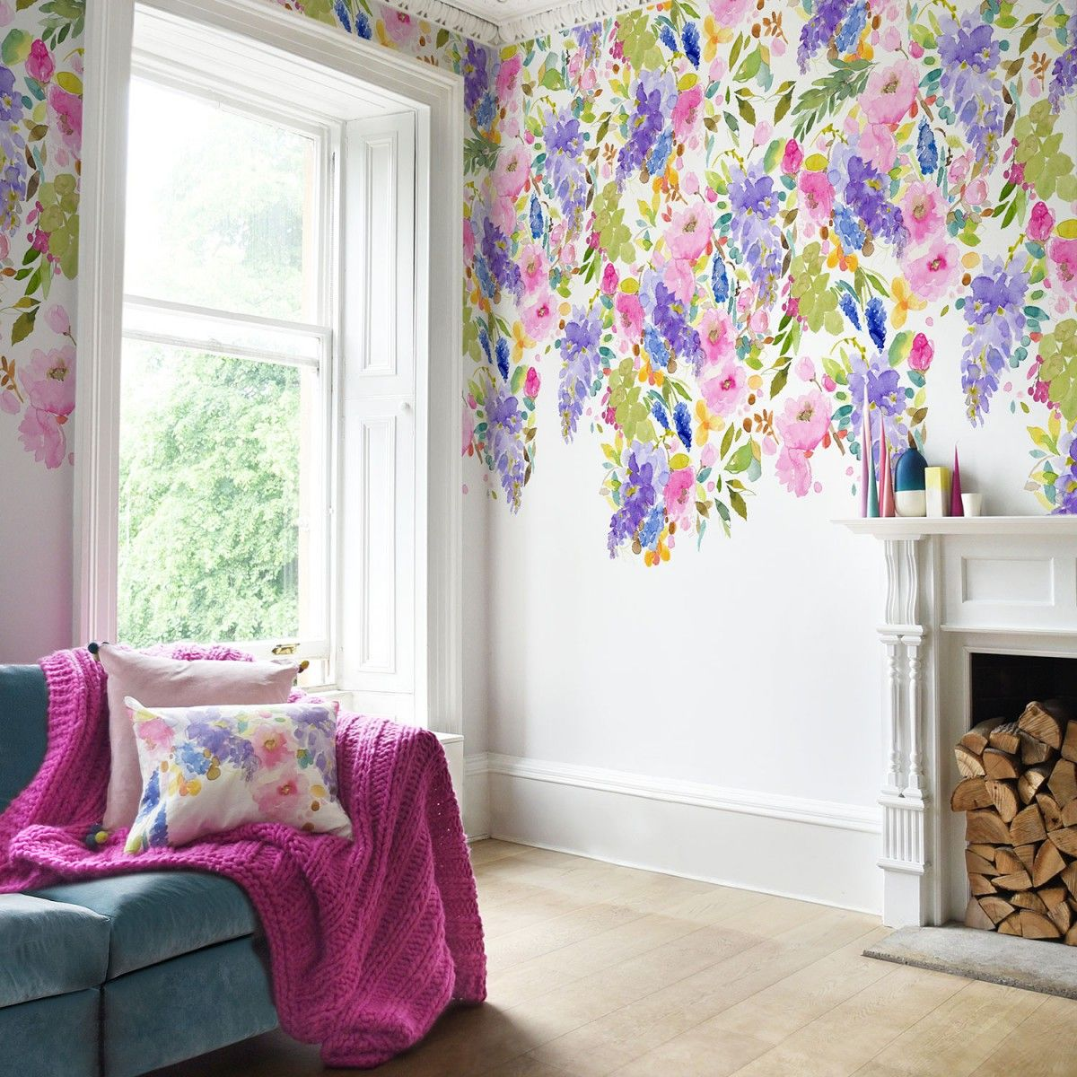 Wisteria Garden Wallpaper Sample Fav Living Spaces