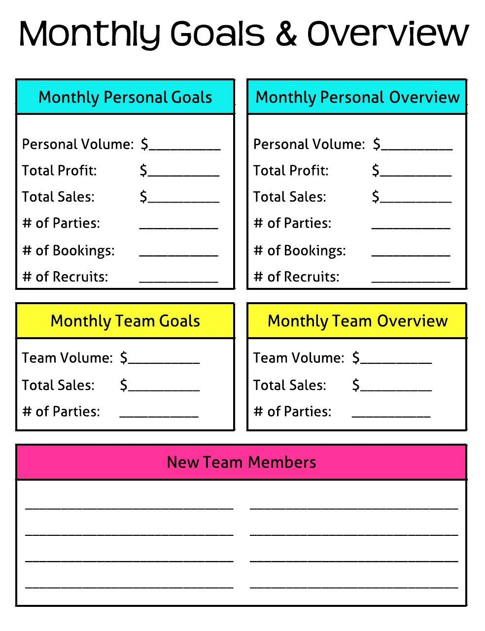 Monthly Goals and Overview Erin Condren Planner Direct