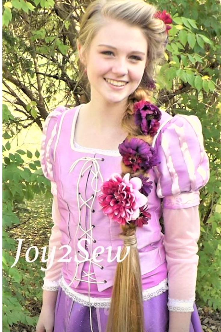Sensil Halloween 2020 Cocone I created a Rapunzel costume for a beautiful girl just in time for