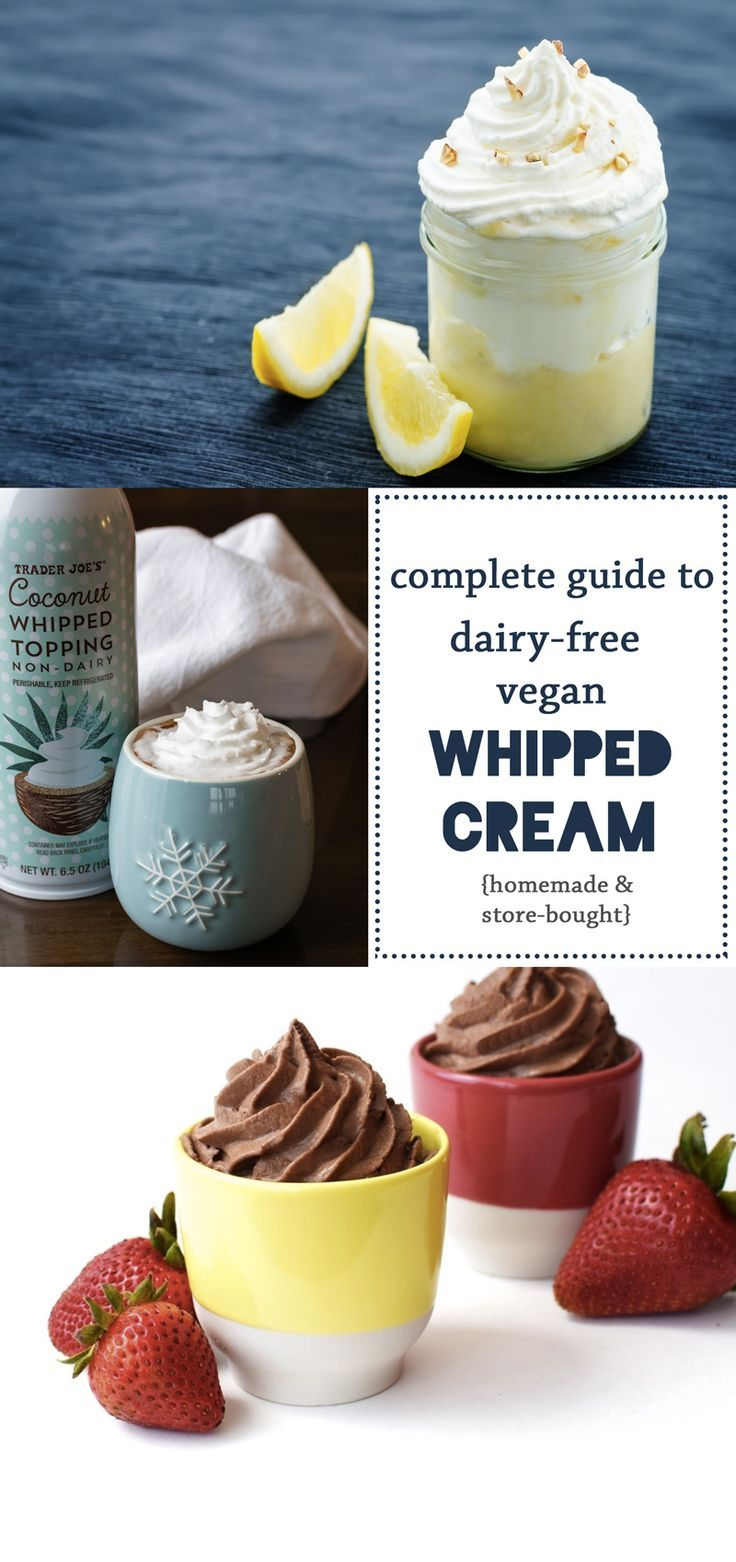 DairyFree & Vegan Whipped Cream The Guide to Products