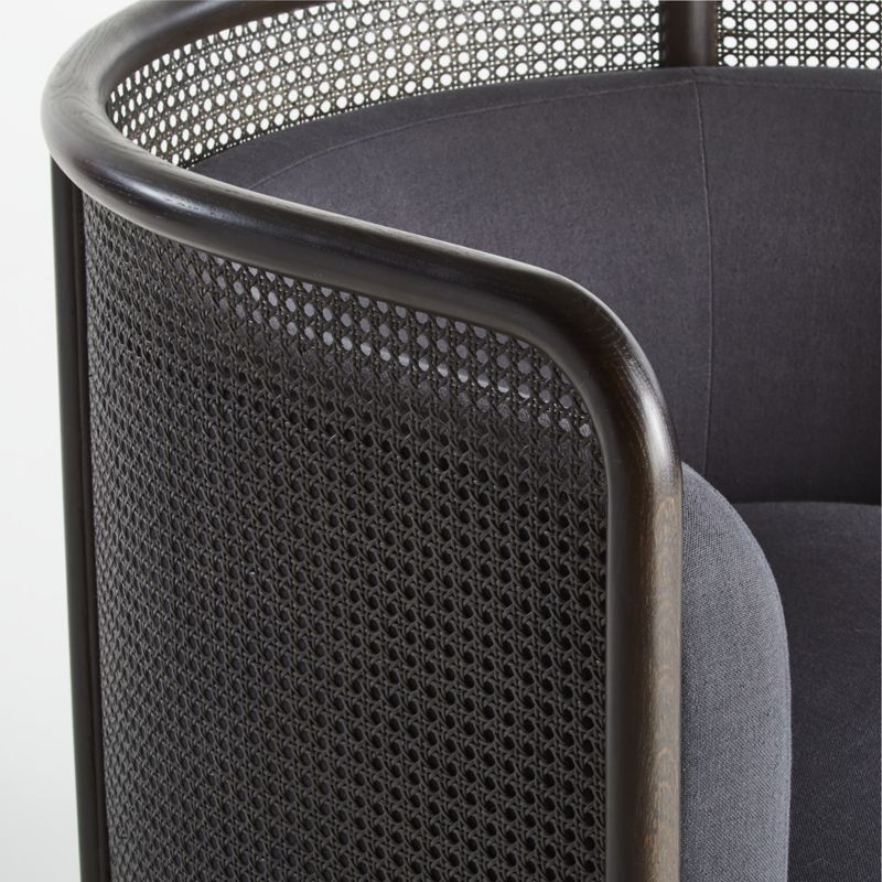 Fields Cane Back Charcoal Accent Chair In 2020 Accent Chairs