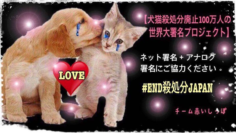 Petition · 環境省, 総理大臣, Ministry of the Environment Goverenment of Japan: 犬猫殺処分廃止100万人の世界大署名プロジェクト 1,000,000 signatures to end kill shelters in Japan. END GASSING. · Change.org