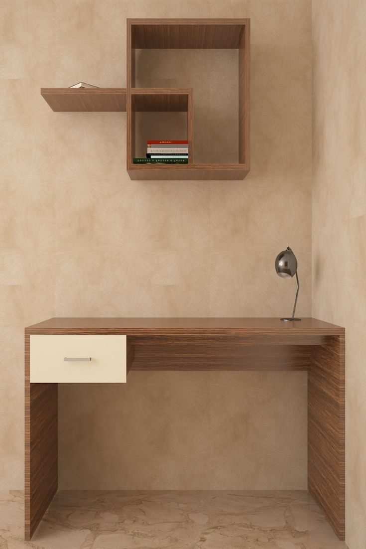 Flamingo Compact Study Unit The asymmetrical wall unit of this
