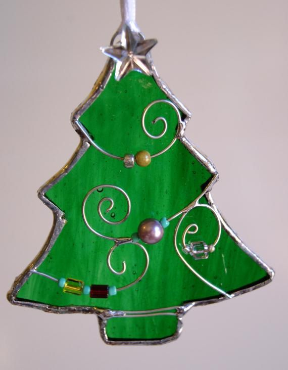 Stained Glass Christmas Tree Christmas Ornament - Stained Glass Christmas Tree Christmas Ornament Stained Glass